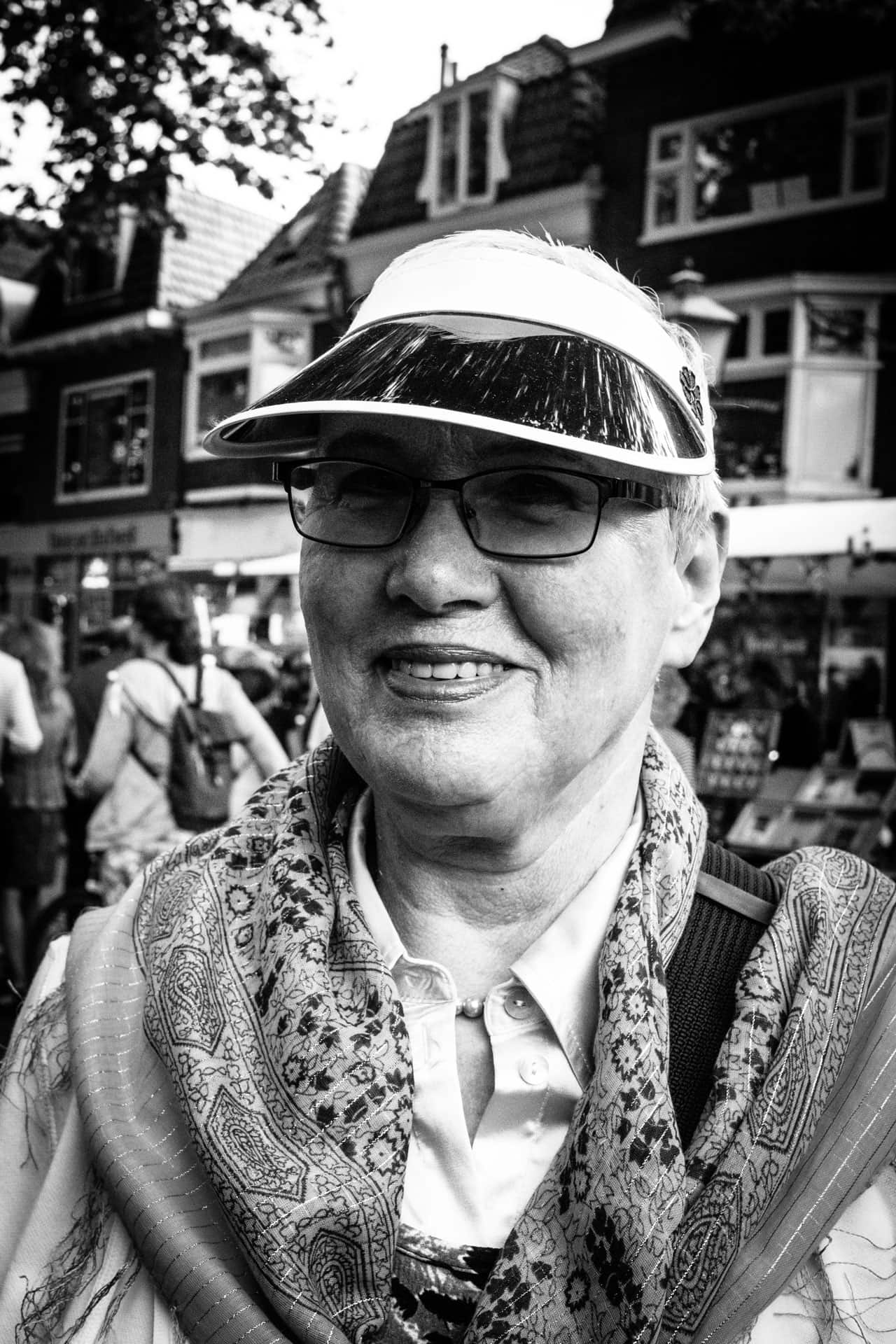 Lady with the white suncap Daily Observations Street Photography