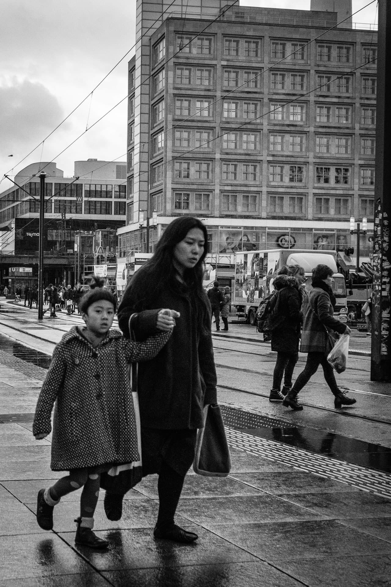 Mother and Daughter in Alexanderplatz, Berlin, Germany