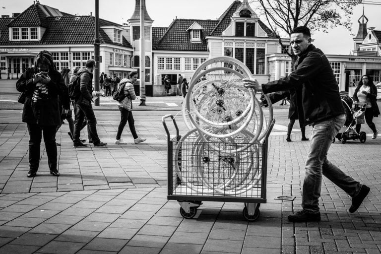 Wheel man... Amsterdam, The Netherlands. Daily Observations By Guillaume Groen