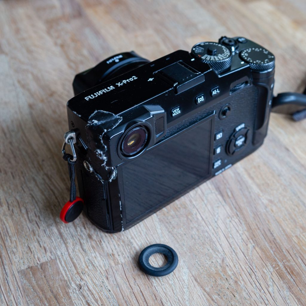 FujiFilm X-Pro 2 Diopter dial and viewfinder eyecup